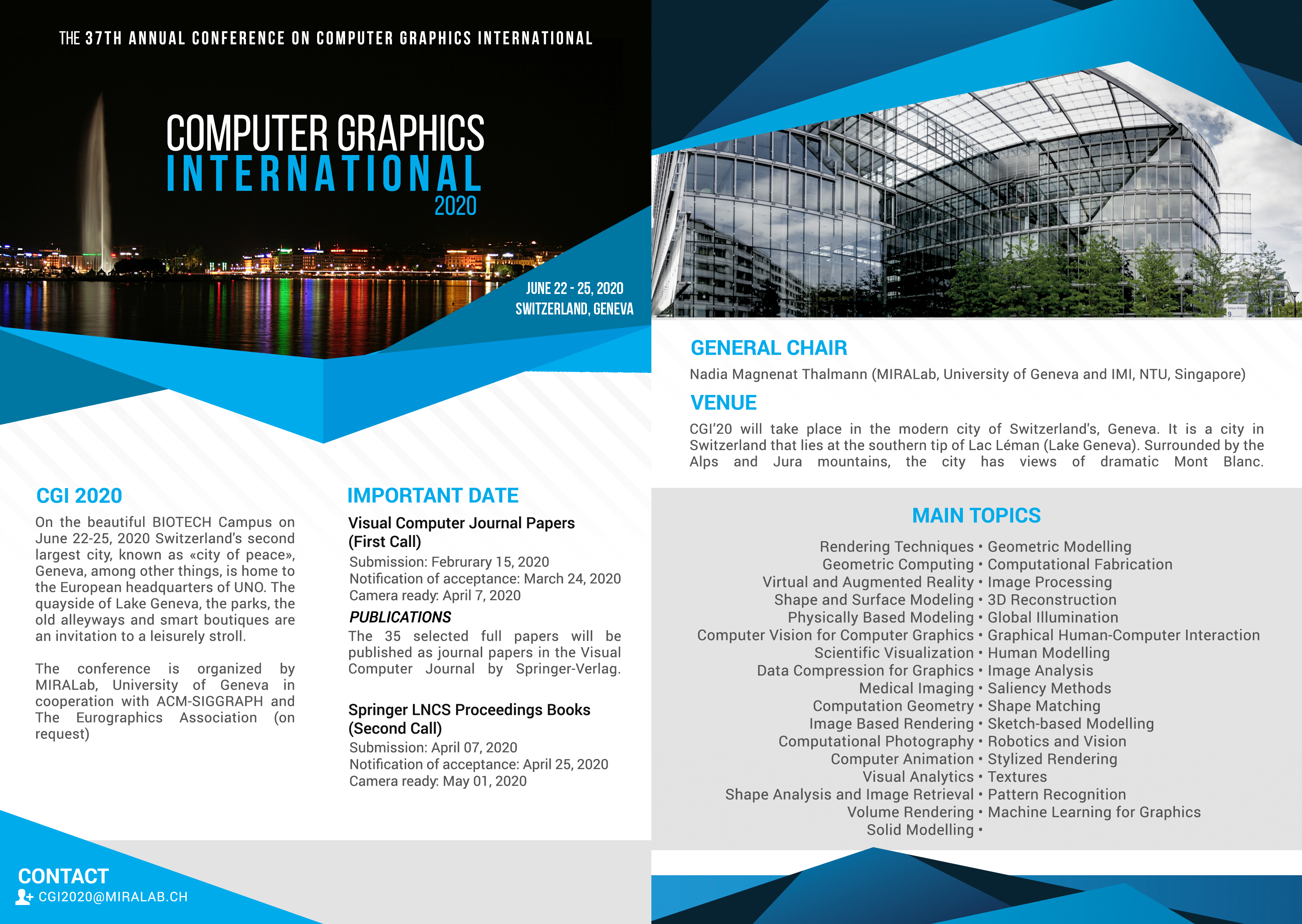 CGI'19 – Computer Graphics International 2019